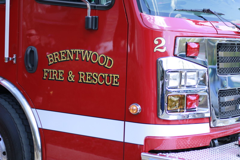 FIRE REPORT: Watch Brentwood Fire work on a burning vehicle