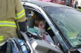 Mock car crash at Brentwood High shows students dangers of distracted driving