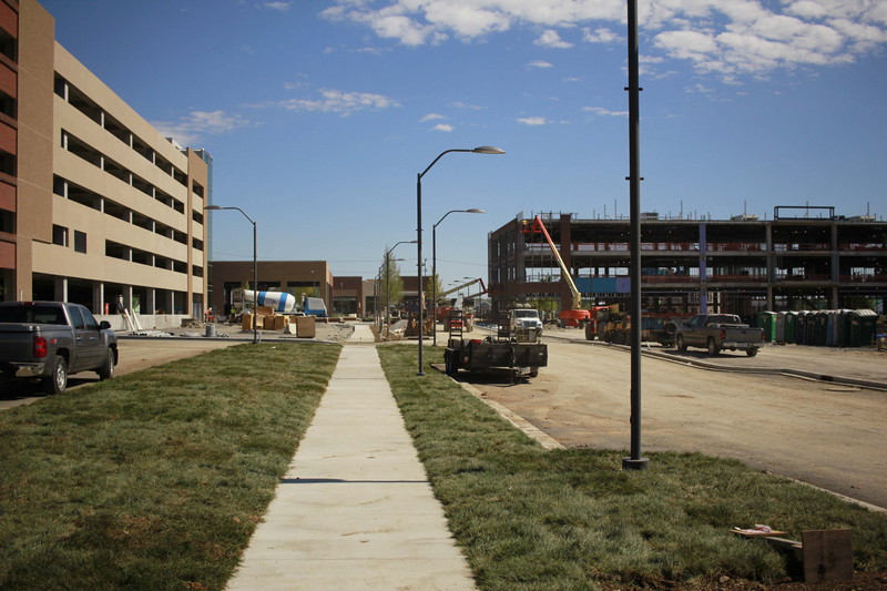 Sidewalks around Hill Center to be completed next month, tenants prepping to move in