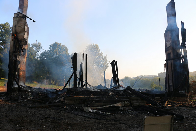 1861 house total loss after overnight fire on Clovercloft Road