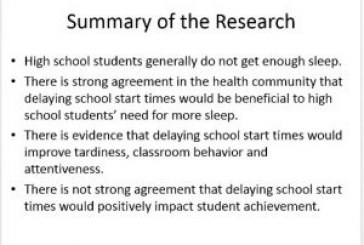 Survey is next step in school start times recommendation