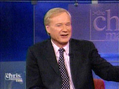 Chris Matthews on his syndicated show