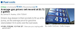 Screenshot of USAToday.com from morning of 5/13/2008 | NewsBusters.org