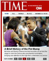Barack and Michelle Obama in Time.com screencap from June 6, 2008 | NewsBusters.org