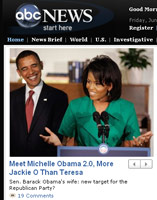 Michelle Obama in ABCNews.com screen cap | NewsBusters.org