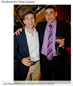 George Stephanopoulos and Michael Sean Winters, photo by Chris Leaman as screencapped from Washingtonian magazine online | NewsBusters.org