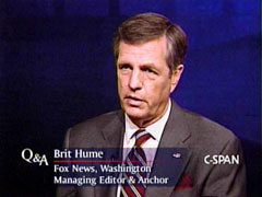 Brit Hume, C-SPAN Q&A | NewsBusters.org