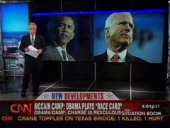 CNN John McCain Barack Obama race debate