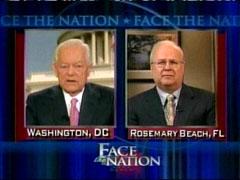 Bob Schieffer and Karl Rove, CBS