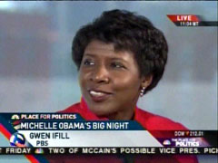 Gwen Ifill of PBS, MSNBC News Live | NewsBusters.org