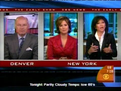 Harry Smith and Maggie Rodriguez and Julie Chen, CBS