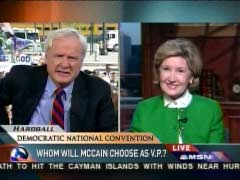 Chris Matthews, MSNBC Anchor & Kay Bailey Hutchison, Texas Senator | NewsBusters.org