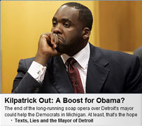 Mayor Kwame Kilpatrick (D-Detroit) in Time screencap from 9/4/2008