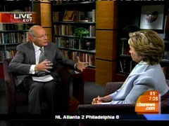 Harry Smith and Hillary Clinton, CBS