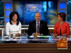 Julie Chen, Harry Smith, and Maggie Rodriguez, CBS