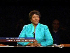 Gwen Ifill, PBS, moderating 10/2/2008 VP debate | NewsBusters.org