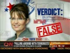 CNN Graphic of Sarah Palin, Republican vice-presidential candidate | NewsBusters.org