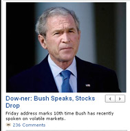 Screencap of ABCNews.com from 10-10-2008 | NewsBusters.org
