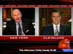 Harry Smith and Mitt Romney, CBS