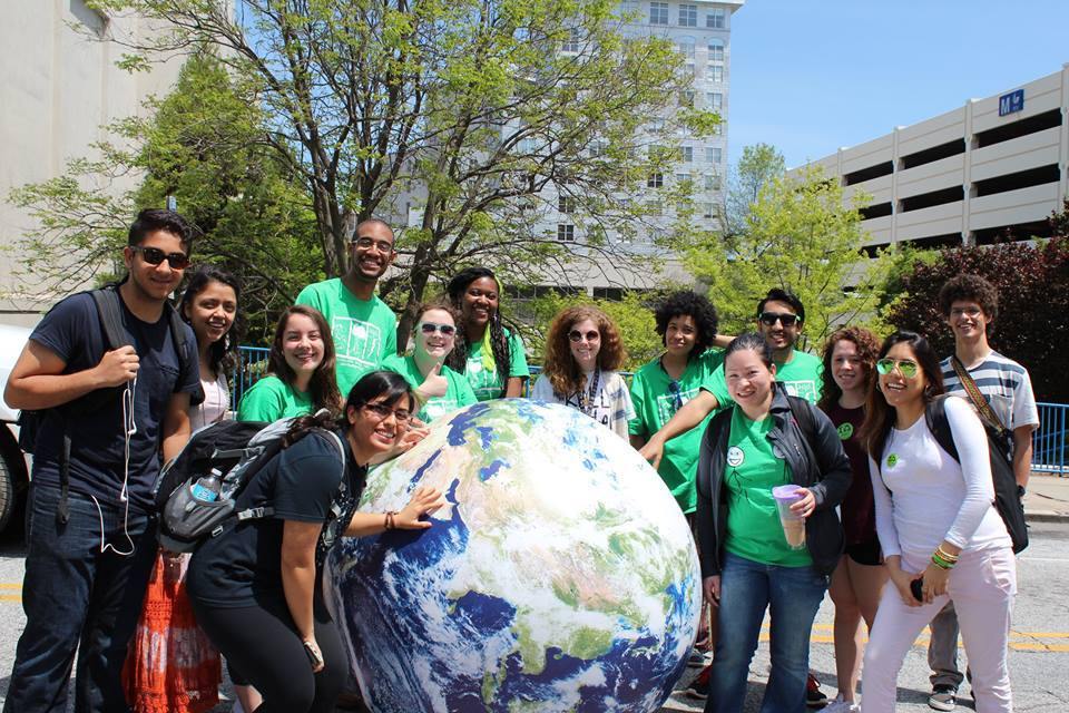 The Sustainable Energy Tribe, the largest environmentally focused student group on campus, celebrates GSU Earth Day Festival.