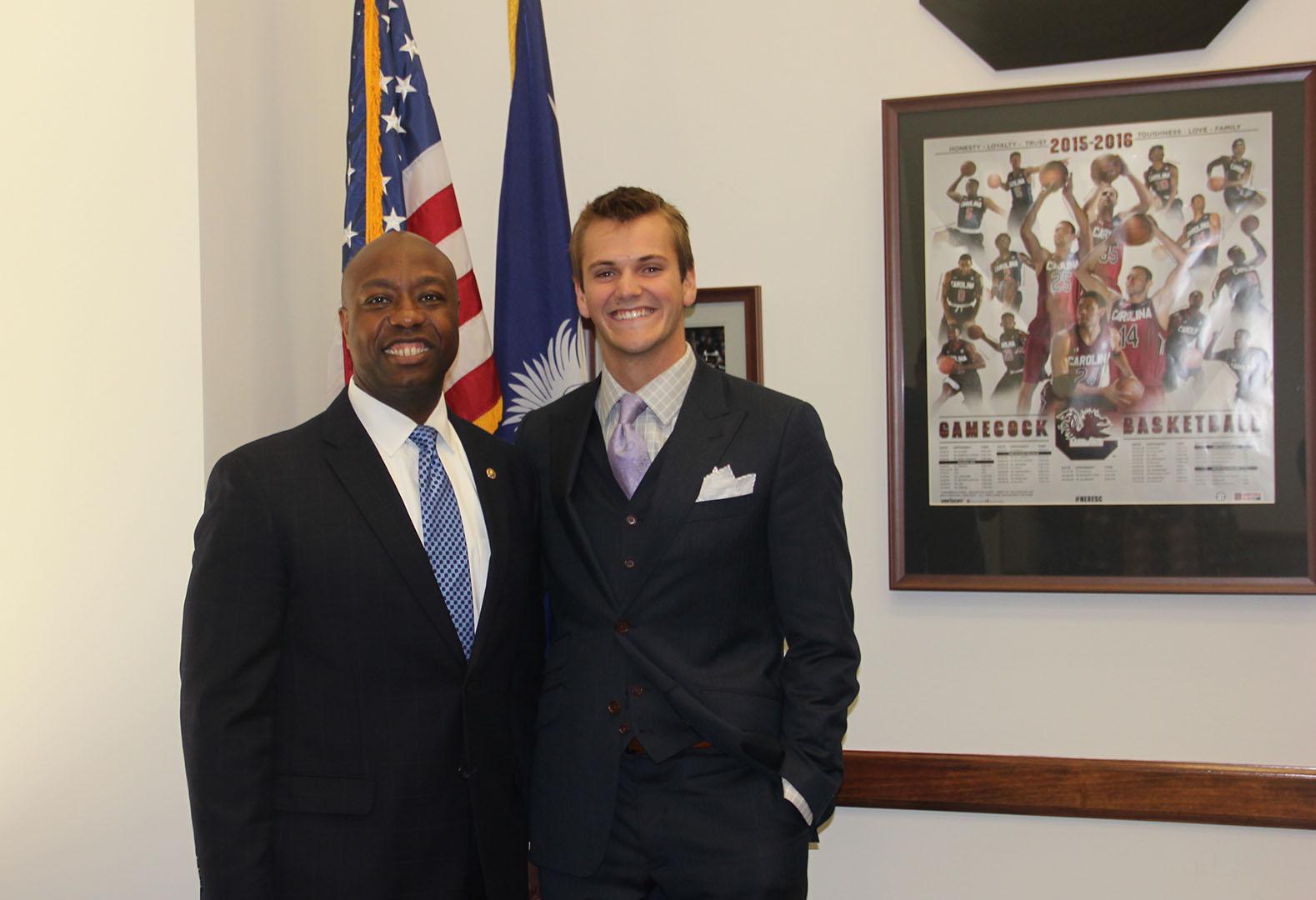 Clark Hickerson with Sen. Tim Scott (R-SC)