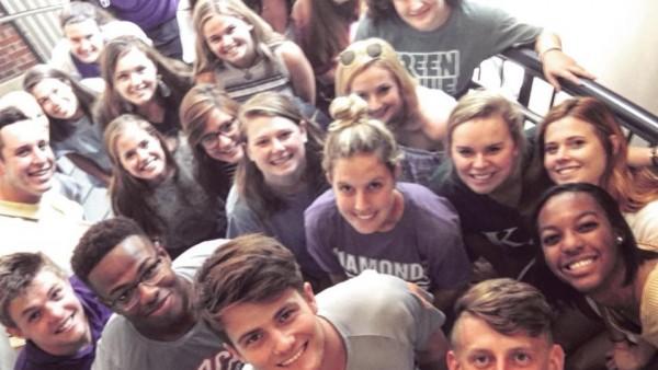 A selfied taken by students in John McArthur