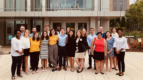 Participants in the Furman Law Career Trek to Washington, D.C. (size: funews-syndication)