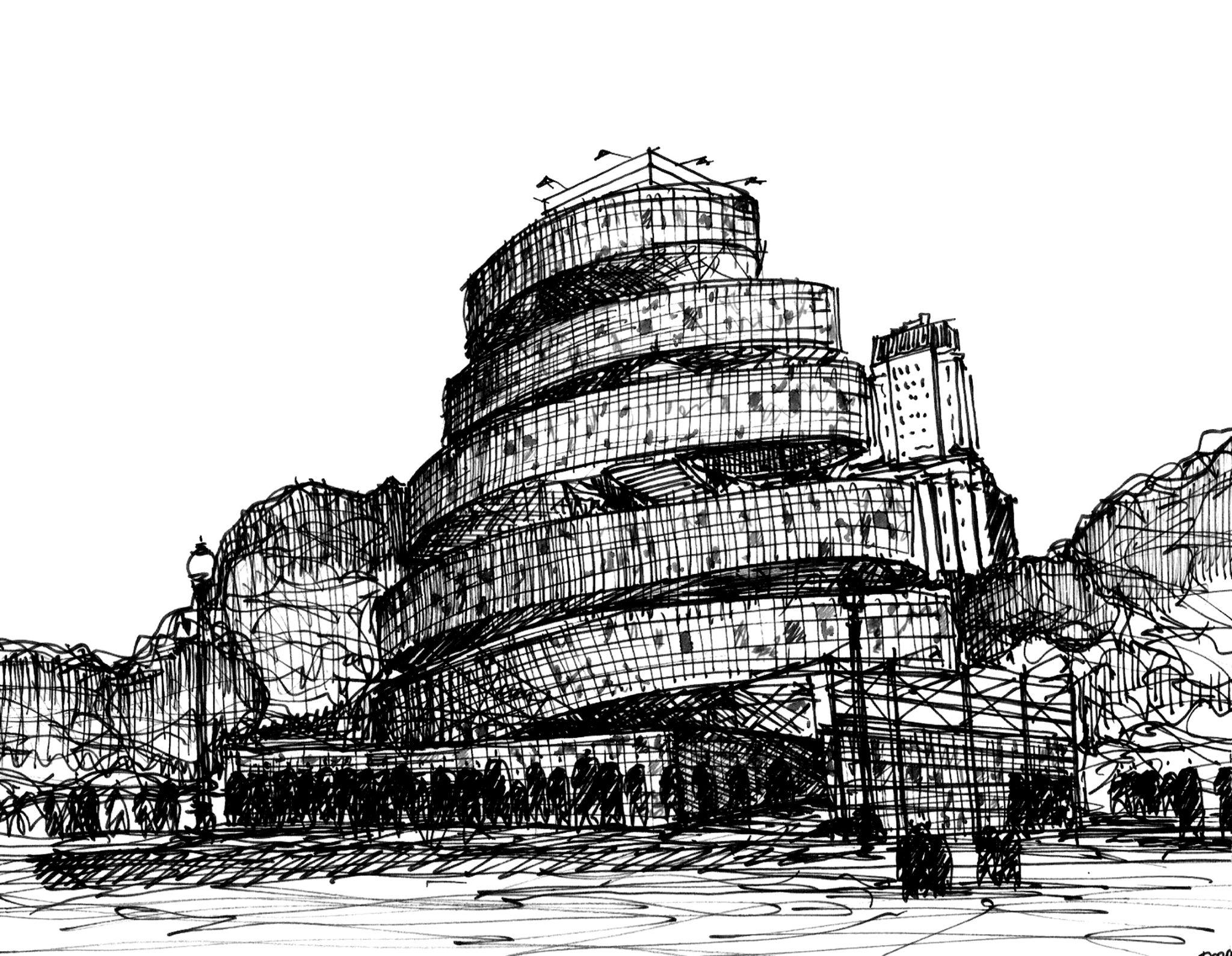 croquis plataforma arquitectura