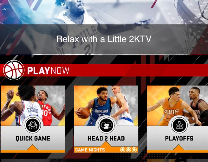 Game modes in MyNBA 2K18