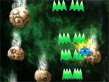 Galaxy Attack: Alien Shooter shooting down asteroids