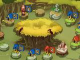 Jungle huts in Jumanji: The Mobile Game