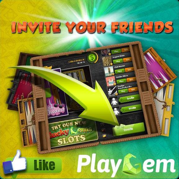 Invite Your Friends to Join You in PlayGem Backgammon!