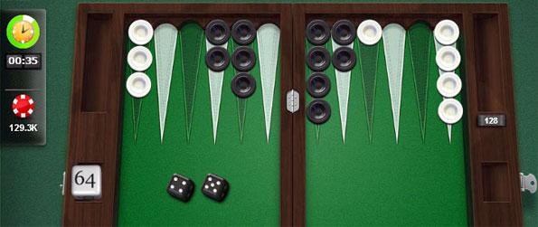 Las Vegas - Play backgammon using the iconic Vegas-themed board in PlayGem Social Backgammon!