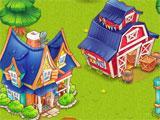 Silos in Cartoon Farm