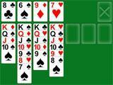 Solitaire close to completion