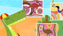 Learn about colors through painting mosaics in Pacca Alpaca