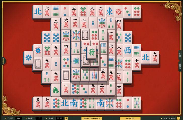 The Classic Look in TheMahjong.com