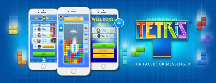 Tetris Launches on Instant Games for Messenger