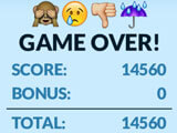 Emoji Pop: Game over