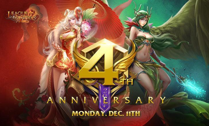 Yoozoo Games Announces League of Angels 4th Anniversary Events