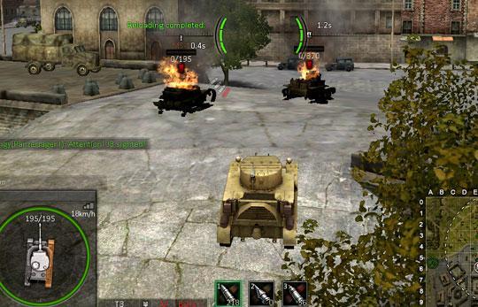 Frying Metal in Ground War: Tanks