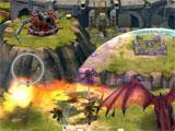 Draco's shield ability in War Dragons