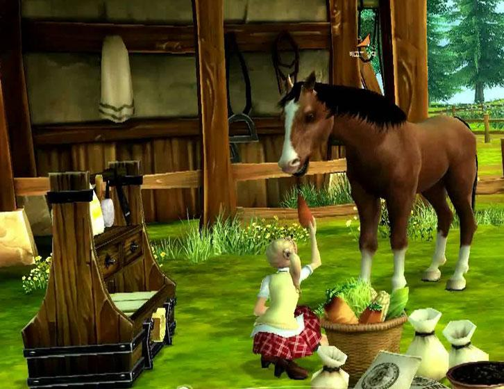 Feeding your horse a carrot treat in Alicia Online