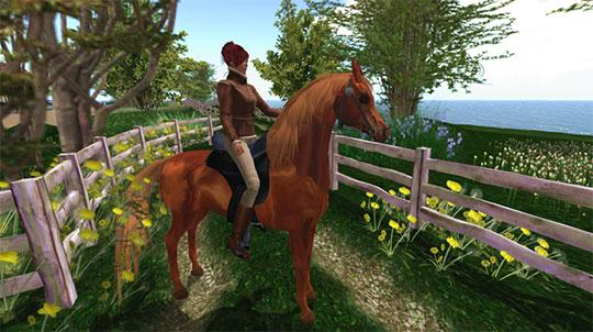 Second Life: Horse from AKK Horse Ranch