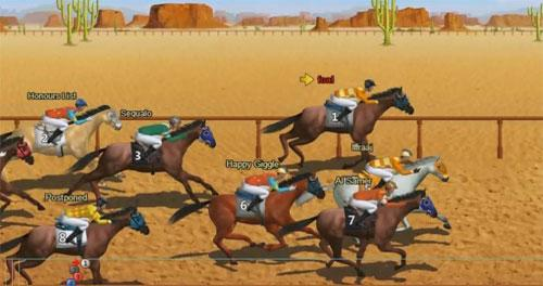 Desert Racing in Stallion Race