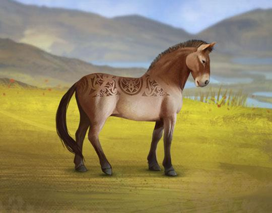 Beautiful Patterned Horse in Howrse