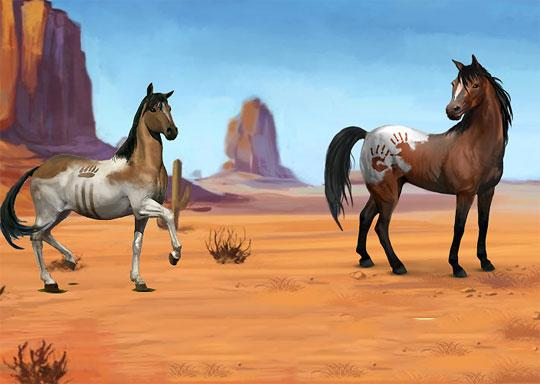 Native American Horses in Howrse
