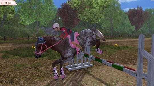 Beautiful Dappled Horse Jumping in Planet Horse