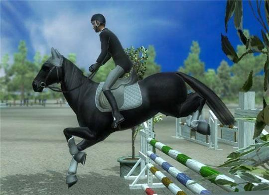Magnificent Jump in Ride: Equestrian Simulation