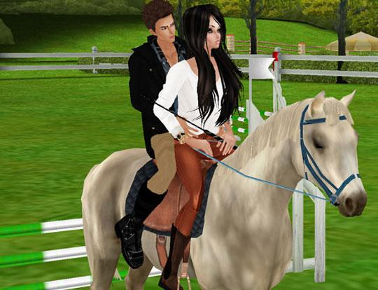 Cute Friends Ride in IMVU
